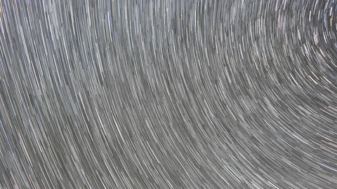 Traces from stars in the form of lines. Milky Way Live Action
