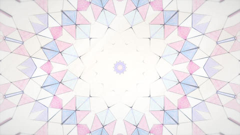 Hand drawn kaleidoscope abstract background Animation
