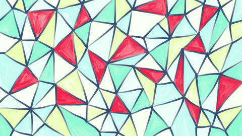 Hand drawn, colourful geometric background Animation