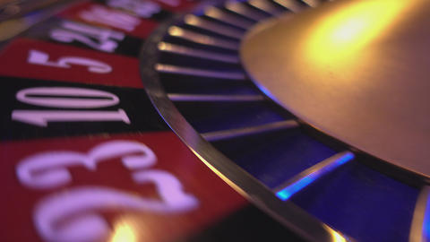 The numbers of a roulette wheel - extreme close up Footage