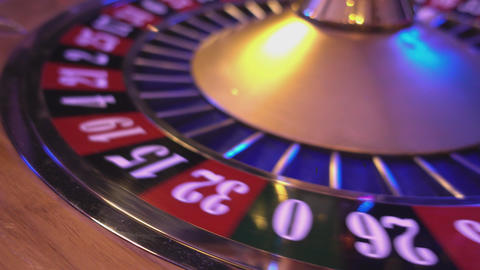 Roulette Wheel in a casino - 16 red wins Live Action