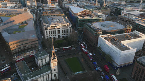 City of London at St. Paul's from above Live Action