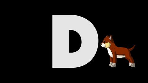 Letter D and Dog (background) Animation