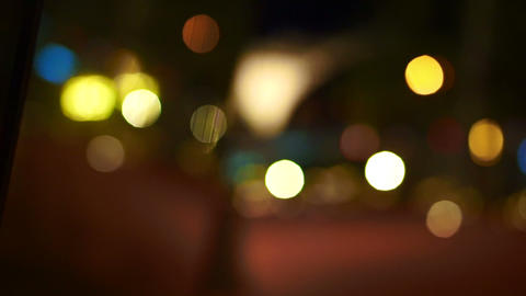 holiday background bokeh of colourful lighting reflecting on the mirror Footage