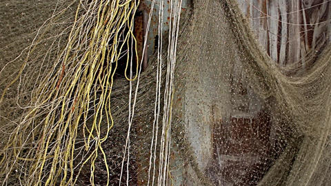 Fishing nets drying Footage