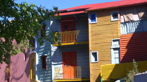 Houses in Caminito, La Boca Footage