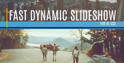 Fast Dynamic Slideshow After Effects Template