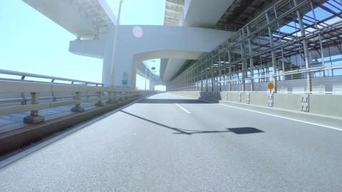Driver's POV through the Rainbow Bridge lower deck ビデオ