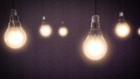 Light Bulbs Animation CG動画素材