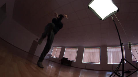 freestyle dancer practiced in the studio Footage