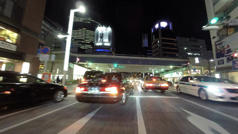 Driver's POV timelapse through the modern streets of Tokyo Footage