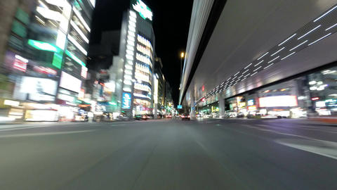 Driver's POV Timelapse Through The Modern Streets Of Tokyo stock footage