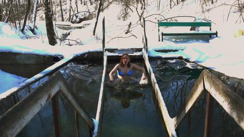 Winter Swimmer Footage