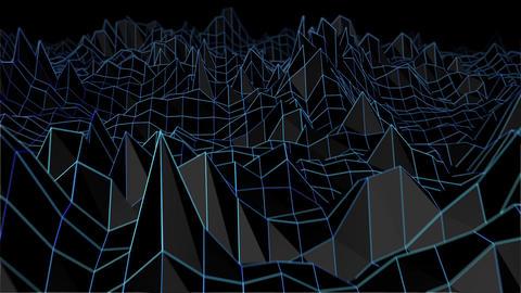 Retro Terrain Wireframe Loop CG動画素材