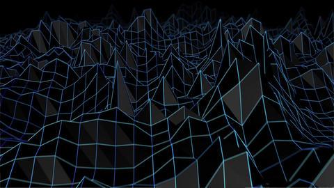 Retro Terrain Wireframe Loop Stock Video Footage