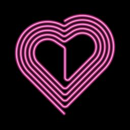 Vector Neon Heart, Neon Silhouette of Pink Heart Vector