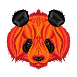 Fire panda, picture of fire bear Vector