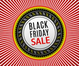 Black Friday Sale Banner. Advertising Poster Vector