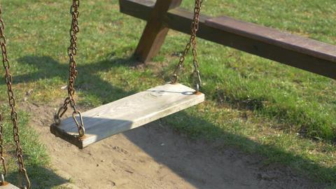 Video of empty swings in 4K Footage