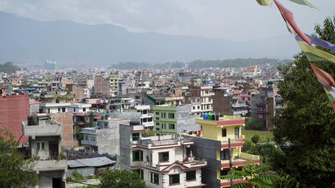 Panorama of the city of Kathmandu Footage