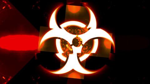 Biohazard Sign and Kaleido Animation