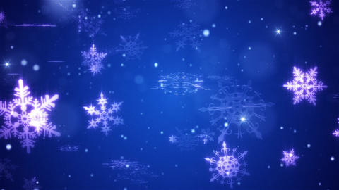 Snow falls and decorative snowflakes. Winter, Christmas, New Year. 3D animation Animation