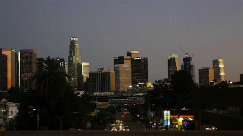 Video of downtown Los Angeles in slow motion Image