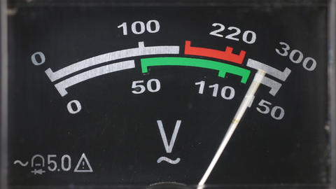 Close-up of an analog voltmeter Archivo