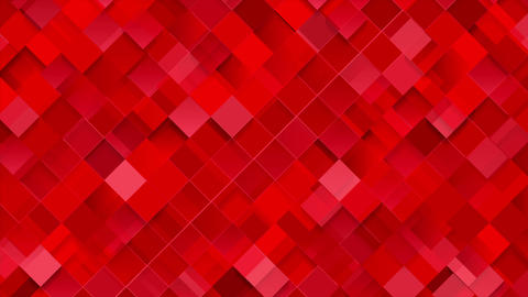 Bright red geometric squares mosaic video animation Animation