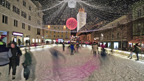 People on an ice rink Image
