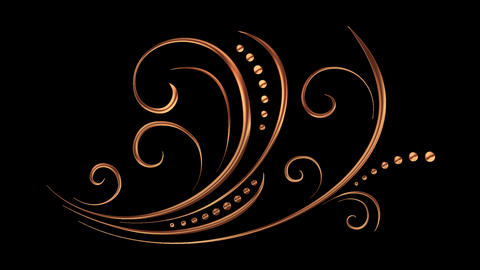 Animated Romantic Picturesque Copper Element 02 Animation