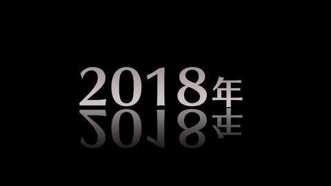 カウント2018黒 CG動画素材