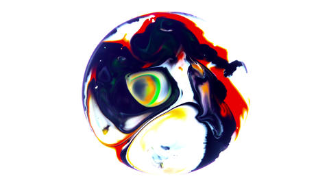 Art Ink Paint Explode Diffusion in Sphere 7 Footage