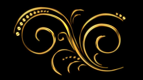 Animated Romantic Picturesque Gold Element 01 GIF