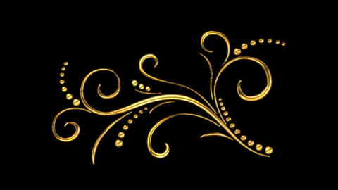 Animated Romantic Picturesque Gold Element 06 Stock Video Footage