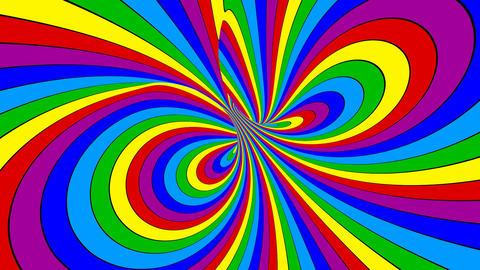Rainbow Torus Motion Animation