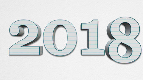 Ew Year 2018 Replacing Old Year 2017 - Paper Letters ภาพวิดีโอ