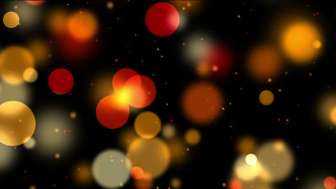 Colorful bokeh, defocused lights and particles on black, motion background Animation