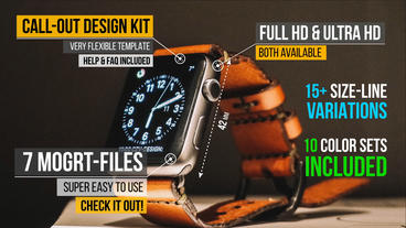 Call out titles design kit Motion Graphics Template