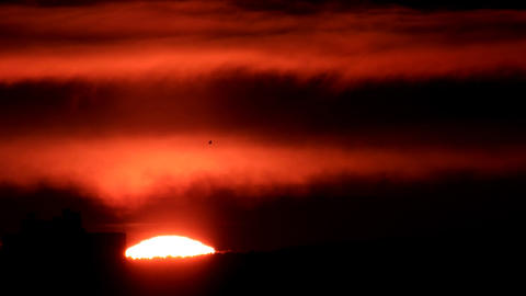 Sunrise closeup. Real Time. Ekaterinburg, Russia Footage
