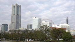 Skyling and big Ferris wheel Footage