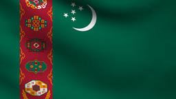 Turkmenistan flag Animation