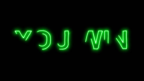 Neon flickering green common expression YOU WIN in the... Stock Video Footage