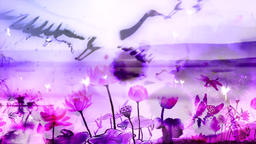 Color ink lotus vj background Animation