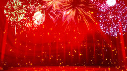 Fireworks red background Animation