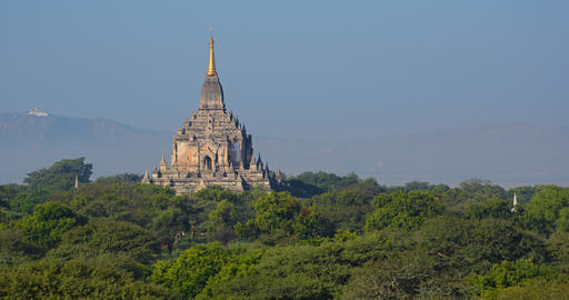 Unique Architecture of Htilominlo Temple in Bagan Myanmar GIF