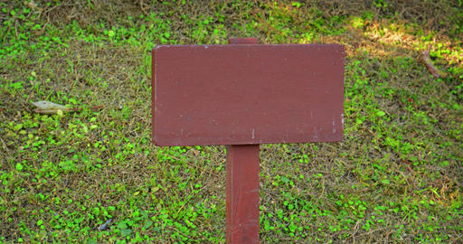 Wooden Sign Post with No Writing GIF