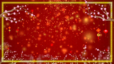 4K Red abstract background for Chinese New Year Background Image