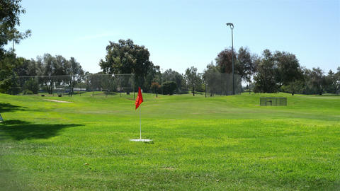 Video of golf field in San Diego in 4K Image