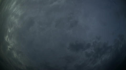 Abstract of Storm Clouds and Lightning in Timelapse GIF